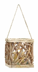 Esperanza Drift Wood Candle Lantern