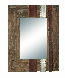 "Everley 36"" High Wood Mirror"