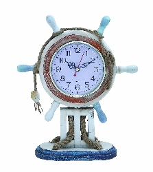 Oisin Ships Wheel Table Clock