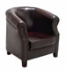 Hamilton Grey Leather Captians Chair