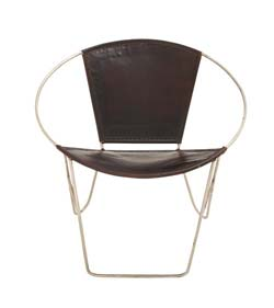 Botobolar Metal Real Leather Chair