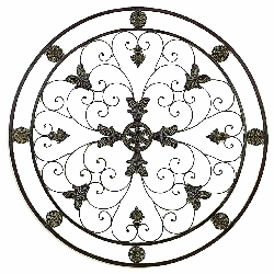 "Emelie Tuscan 36"" Round Wall Grill Medallion"