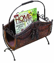 Echo Wood & Magazine Rack