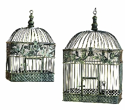 Tianna Bird Cage Set 2 For Garden Or Porch