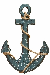 Honey Nautical Wood Anchor