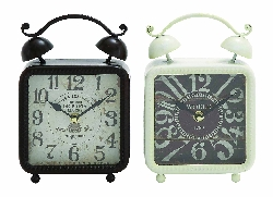 Cherish Black & White Desk Clock Set 2