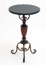 Amaia Round Table With Non Corrosive In Brown Color