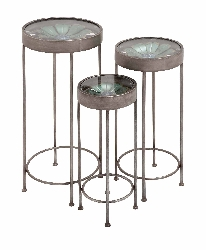 Calavi Glass Top Plant Stand Set/3