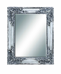 Adem Silver Baroque Beveled Wall Mirror