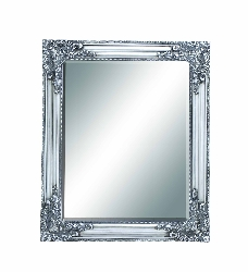 Livi Silver Baroque Beveled Wall Mirror