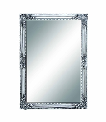 Madalena Silver Baroque Beveled Wall Mirror