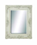 Elegance Shabby White Beveled Wall Mirror
