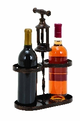 Jorja Industrial 2 Bottle Wine Holder