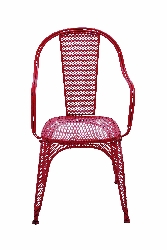 Pamela & Vibrant Netted Red Chair