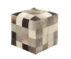 Chile Ravishing Wood & Leather Ottoman