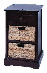 Mckenzi 2 Basket Brown Cabinet