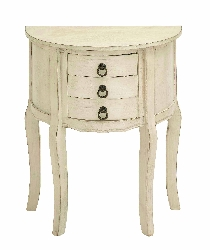 Alexi 2 Drawer White Wood Night Stand