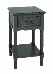 Emy Black 1 Drawer Wood Night Stand