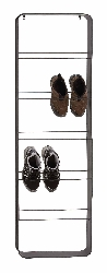 Gambela Metal Wall Shoe Rack