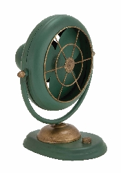 Piraeus Styled Green Polished Metal Fan Décor