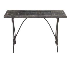 Wanach Metal & Wood & Glass Console Table