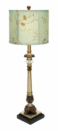 Jaleah Buffet Lamp With Beige Shade