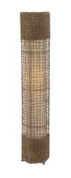 Willow Metal & Rattan Floor Lamp
