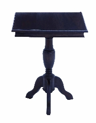 Layna Square Mahogany Accent Table