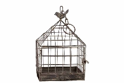Koropi Hanging Grey Bird Cage