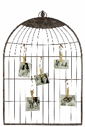Preveza Hanging Grey Bird Cage