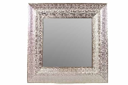 Mercedes Embossed Framed Metal Mirror