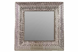 Lidia Embossed Framed Metal Mirror