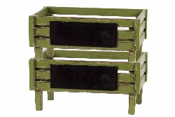 Capodaglio Green Wood Storage Trays