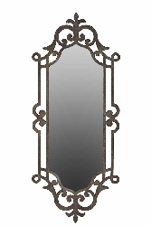 Marzio European Scroll Black Wall Mirror