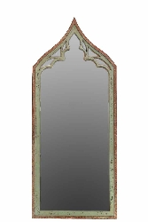 Carmen Wood Mirror in White With Arched Head