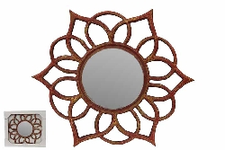 Blair Floral Wood Mirror