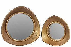Fabrizi Round Mirror Set/2