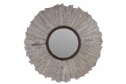 Falorni Round Wood Mirror