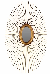 Luisa Oval Metal Mirror With Strings Of Metal Depicting Rays Of Sun