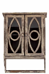 Ely Wood Cabinet With Oval Pattern