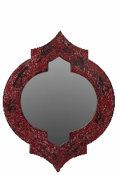 Bayard Wood Mirror Red