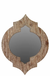 Beau Wood Mirror Brown