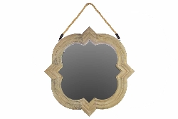 Guida Hanging Wood Mirror
