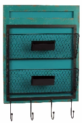 Caterina Blue Wood Wall Organizer