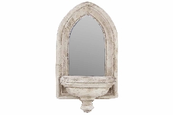 Kaia Stone Style Mirrored Candle Wall Sconce