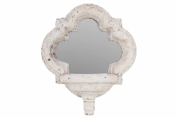 Lysandra Stone Style Mirrored Candle Wall Sconce