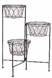Meyer Multipurpose Metal Basket on Stand Set/3