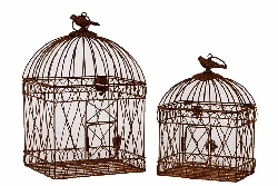 Talli Metal Bird Cage Set/2