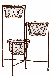 Tamburi Basket Plant Stand Set/3
