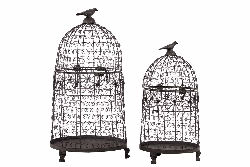 Lia Floral Bird Cage Set/2